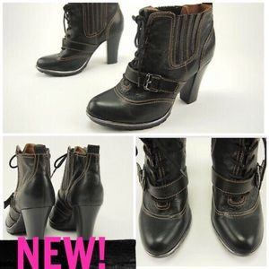 NEW! SOFFT WINDSOR BLACK LEATHER BOOTIES